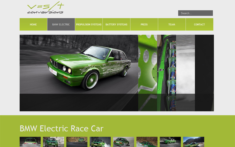 vst electric cars website design