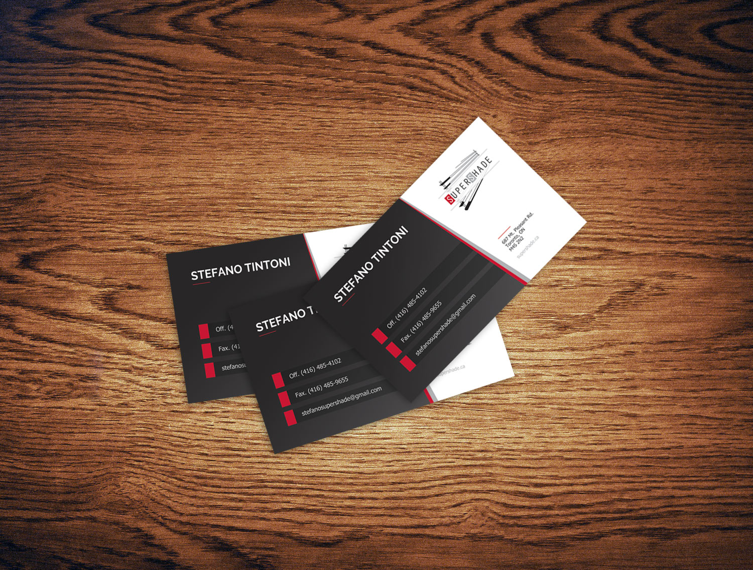 supershade business cards