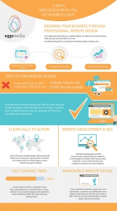 5 Ways Web Design Helps you Get Business Leads eggsmedia infographic
