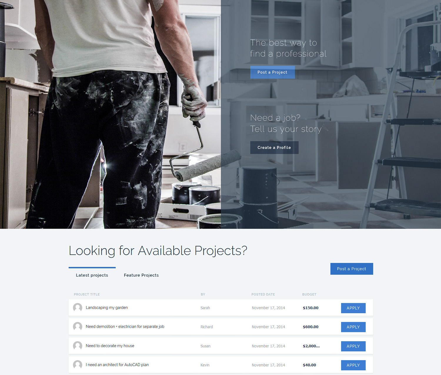 odd jobs and trades web design