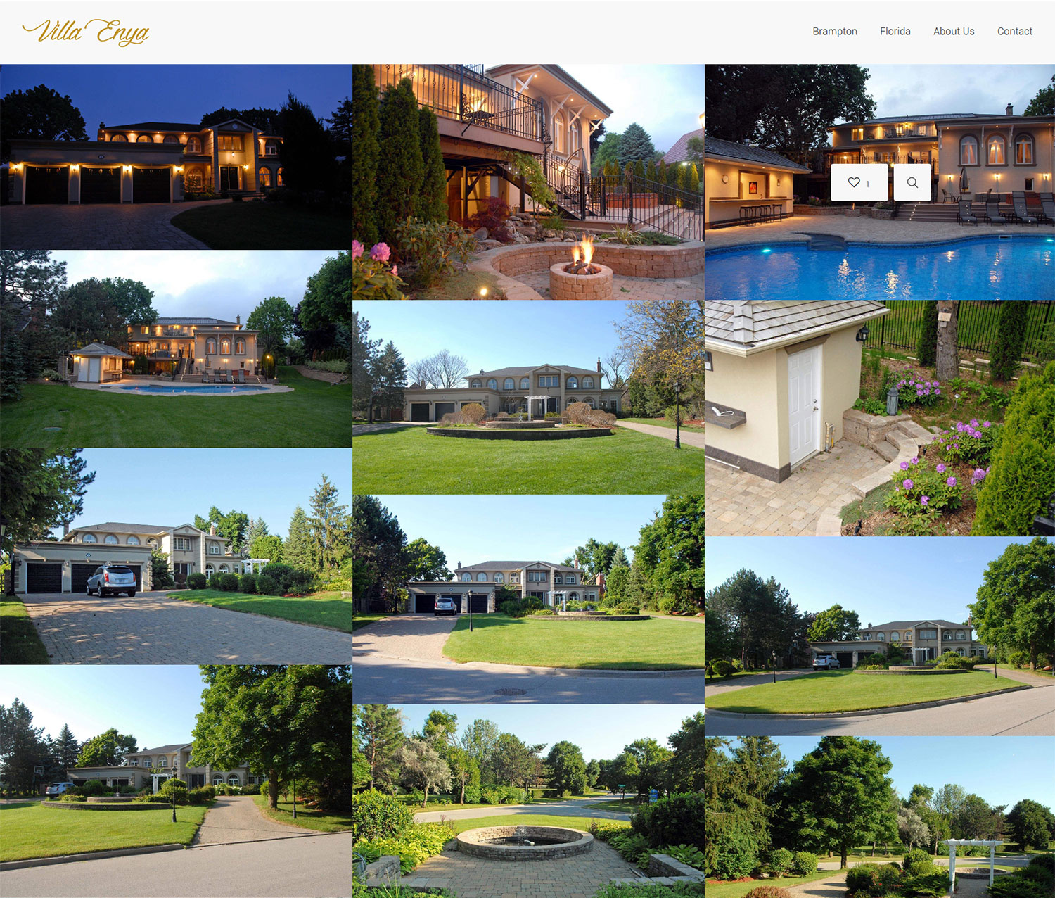 luxury villa web design