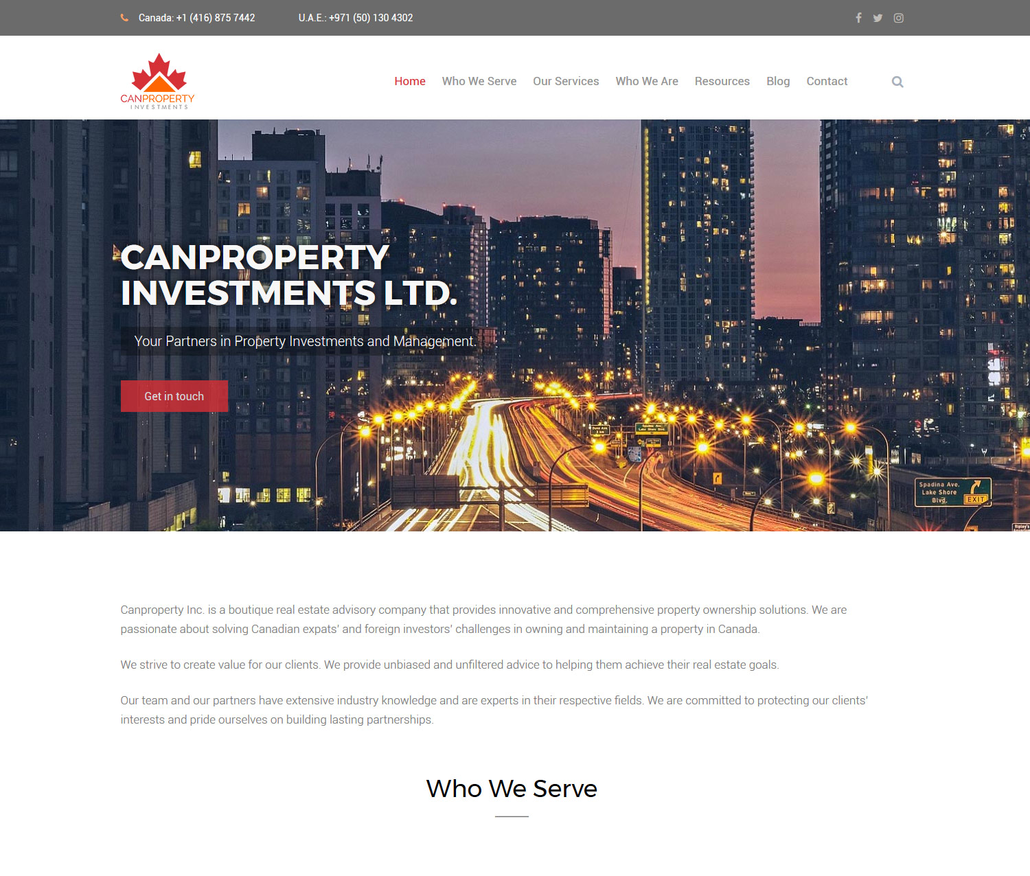 property investments web design