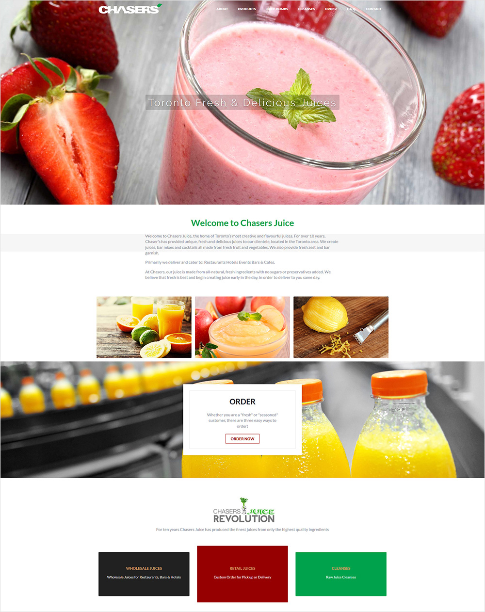 eggs media case study chasers juice old website before