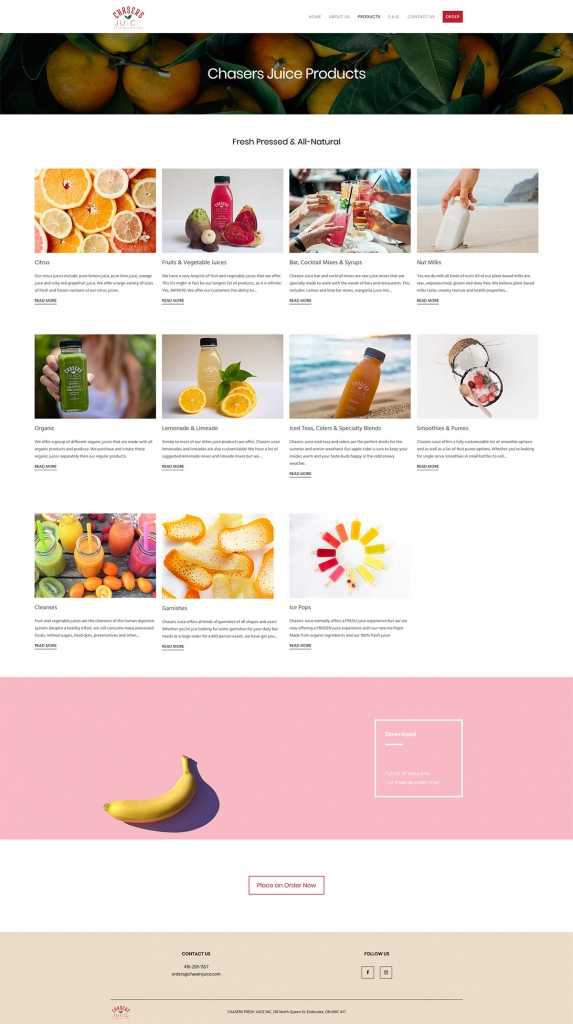 eggs media case study chasers juice new products page