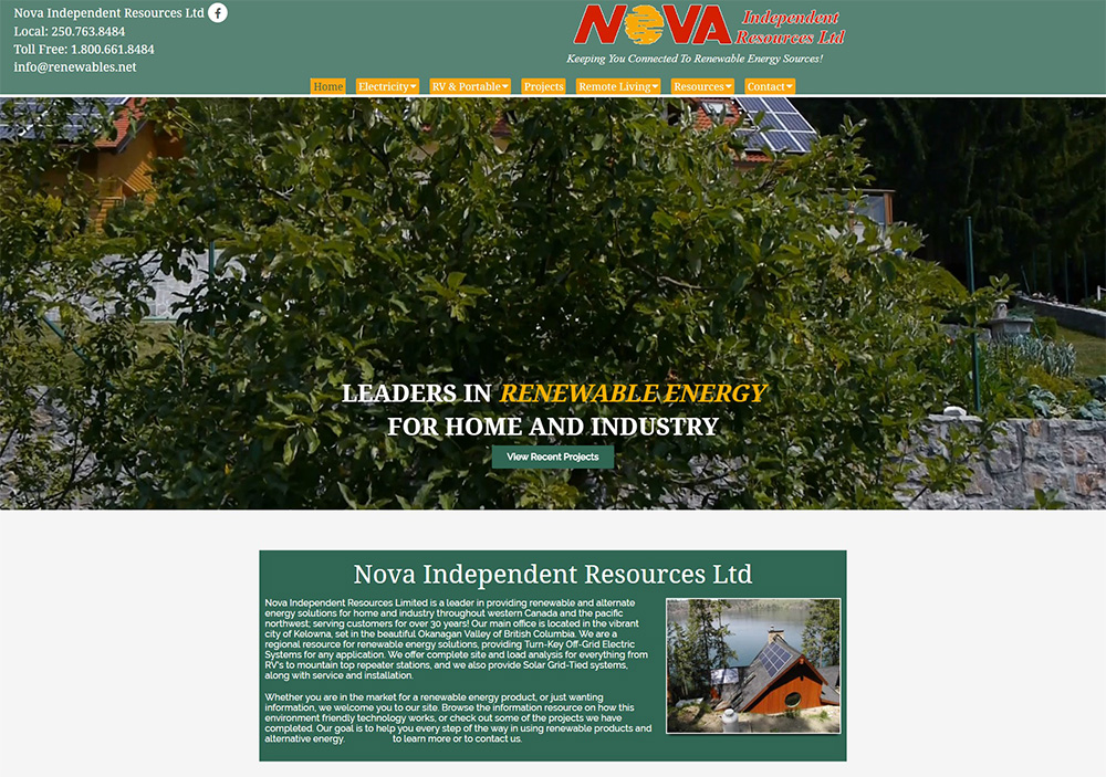 eggs media case study nova old website before