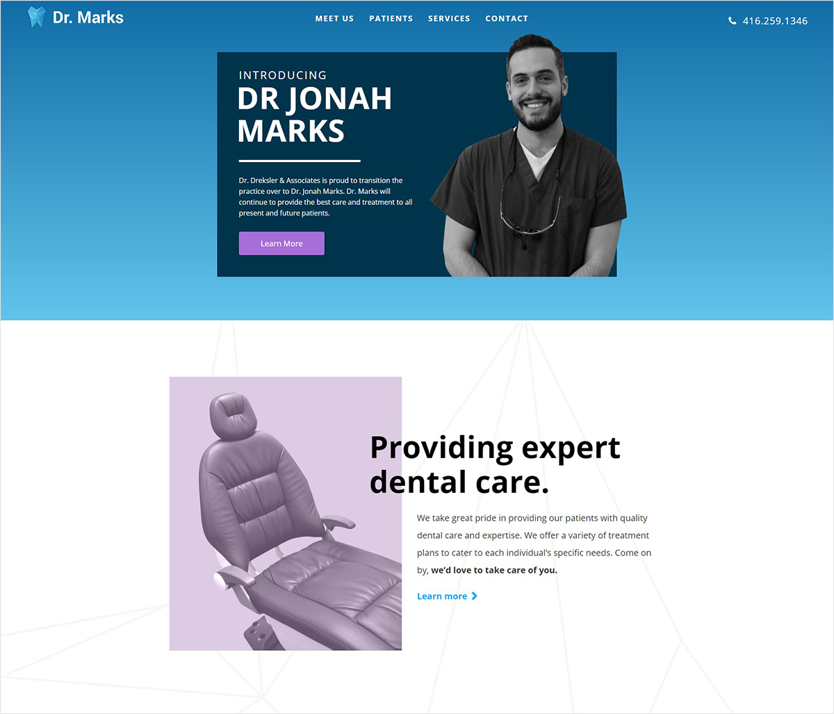 eggs media case study marks dentistry old website before