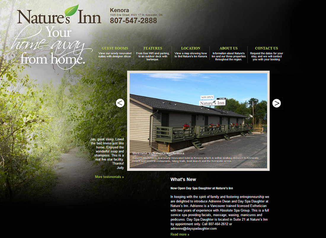 eggs media case study natures inn old website before