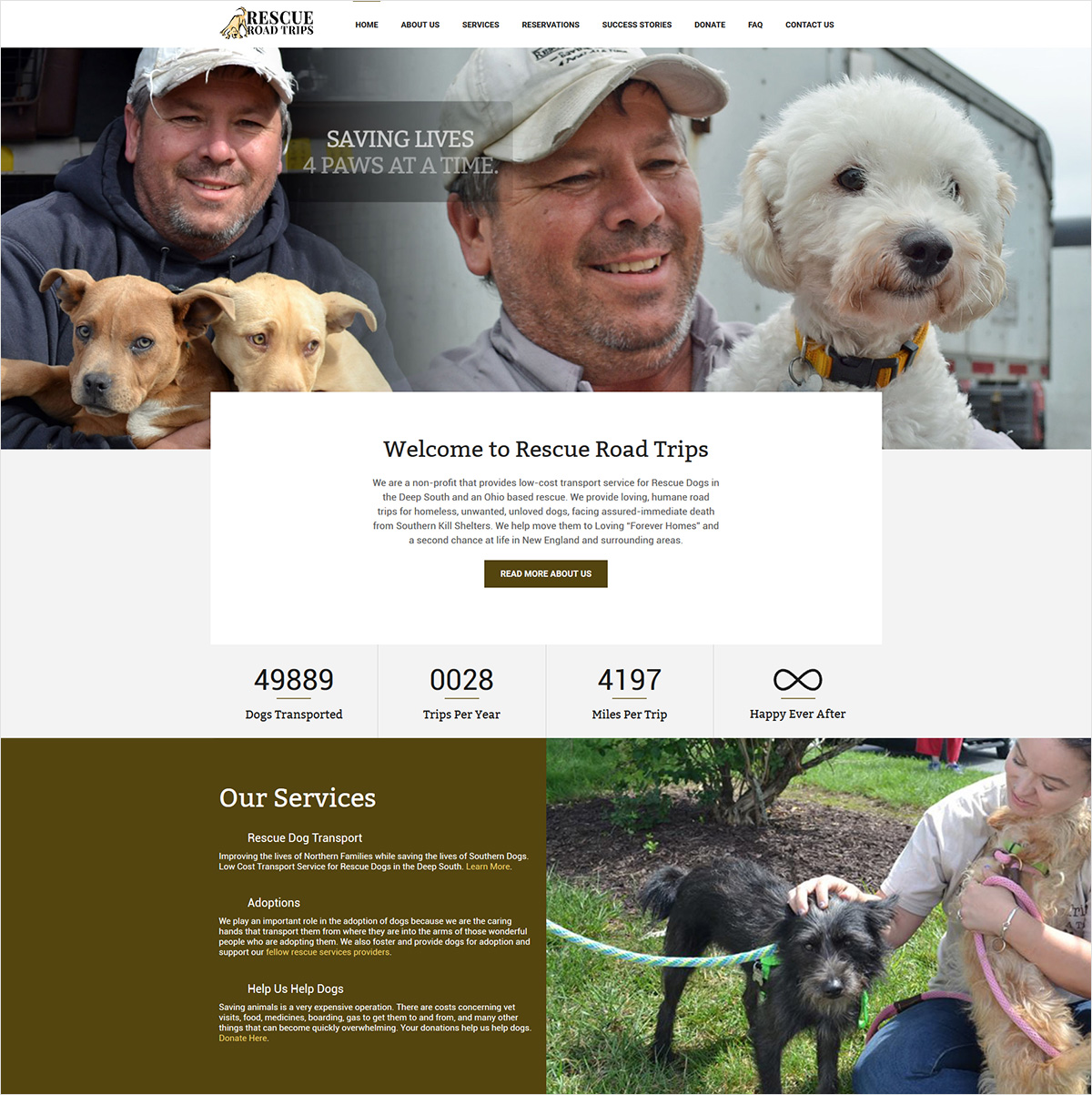 eggs media case study rescue road trips new website after
